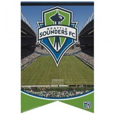 """17""""x26"""" Seattle Sounders Premium Felt Banner - Officially Licensed - Seattle Sounders - MLS - Sports Flags - Product Type Flags A' Flying"""