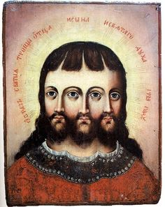 Russians, you so crazy. Siberian Trinity. Russian icon.