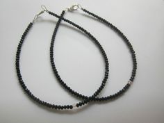 Sexy women Anklet Ankle Bracelet Barefoot Sandal Beach Foot Jewelry black bead #Handmade