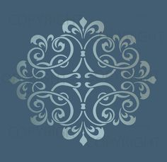 LARGE WALL DAMASK STENCIL PATTERN FAUX MURAL DECOR #1012 (Choose Custom Size) #Lightsforever #DamaskMoorish