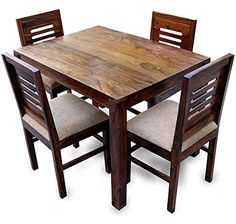 Four Seater Dining Table, High Dining Table Set, Latest Dining Table, Dining Table With Storage, Dining Table Chairs, Dining Sets, Wooden Dining Table Designs, Dinning Table Design, Solid Wood Dining Table