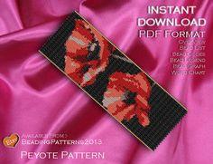 Peyote Pattern  Beading Pattern  Poppy by BeadingPatterns2013
