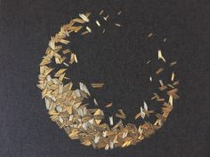 Hanny Newton, metallic thread embroidery