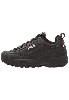 Chaussures Fila DISRUPTOR LOW - Baskets basses - black noir: 119,95 € chez Zalando (au 01/09/17). Livraison et retours gratuits et service client gratuit au 0800 915 207.