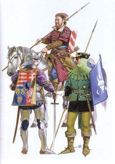 Angus McBride - Caballeros húngaros, 1475.