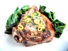 Jahňacia kotleta s čerstvým špenátom - recept Steak, Pork, Kale Stir Fry, Steaks, Pork Chops