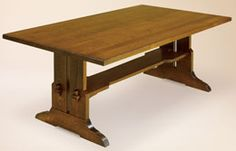 """Hand Crafted Shaker and Mission   38"""" x 72"""" Fraser Table: Oak"""
