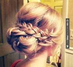 Loose Updo Hairstyle With Braid Bridesmaids Hair Veronica Islas Wedding Guest
