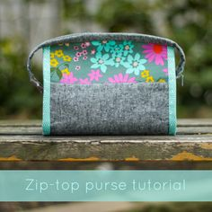 Zip-Top Purse Tutorial on The Daily Stitch