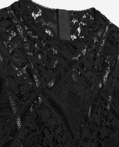 Top noir en dentelle - THE KOOPLES FEMME