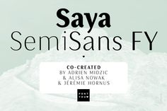 Check out Saya SemiSans FY Black Italic by FONTYOU on Creative Market