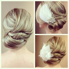 #formalupdo #updo #bigcurls #accessories #hairaccessory #wedding #weddinghair #bridal #Bridalhair #flowers #feathers