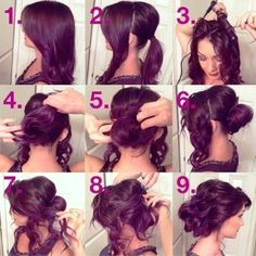Prom Hair Tutorial Updo, New Concept! - Do you want to hairstyle prom like prom hair tutorial updo? Talking about hairstyle trends, hair cutting style and Hair Styles 2014, Curly Hair Styles, Pretty Hairstyles, Wedding Hairstyles, Easy Hairstyles, Wedding Updo, Graduation Hairstyles, Medium Hairstyles, Bridal Updo
