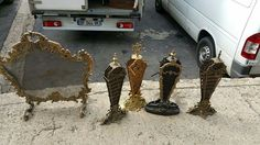Large collection of 19th Century French firescreens.
