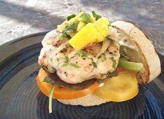 The burger recipe was adapted from the Burger Bar Cookbook. One of the authors is Hubert Keller – you might know him from Top Chef Masters Shrimp Burger, Fish Burger, Burger Bar, Salmon Burgers, Shrimp Dishes, Shrimp Recipes, Bariatric Recipes, Healthy Recipes, Healthy Food