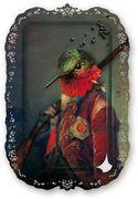 ziertablett   Plucky Ambroise Tablett / Bild - H 59 cm - Ibride