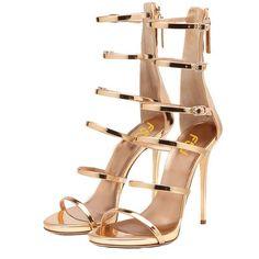 FSJ Women Hollow-out Sandals Open Toe Pumps High Heels Shoes Strappy Buckle…$54.99