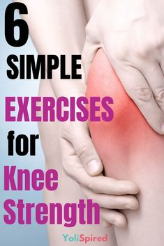 Check out these easy exercises to strengthen your knees and keep you pain-free Knee Strengthening Exercises, Balance Exercises, Bad Knee Exercises, Total Knee Replacement Exercises, Sciatica Exercises, How To Strengthen Knees, Nba, Knee Pain Relief, Nerve Pain