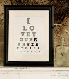 "want to make something like this for the livingroom Easy DIY ""Eye Chart"" Art ✥"