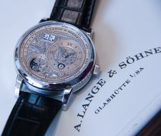 """A. Lange & Söhne Lange 1 Tourbillon Perpetual Calendar Handwerkskunst Watch: A Mouthful of Masterwork - by James Lamdin - Read and see more on aBlogtoWatch.com """"In addition to having the longest name of any wristwatch I went hands-on with this year, the A. Lange & Sohne Lange I Tourbillion Perpetual Calendar Handwerkskunst might also be the single most impressive – if nothing else, it is simply jaw-droppingly beautiful..."""""""