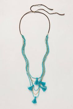 "(Pinning this only because it totally looks like a horse.) ""Tassel Wisp Necklace - anthropologie.com"""