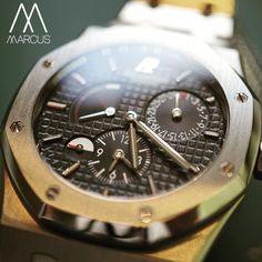 Audemars Piguet Royal Oak Dual Time in stainless steel. It's a 39mm case for anyone still looking for a smaller size Royal Oak.