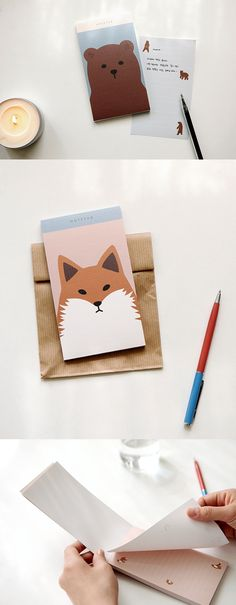 I adore the simple and adorable Dailylike Animal Notepad! The pastel tone and animal illustrations on each sheet are the delight to write on, and make it great for writing quick notes!