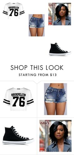 """""""Blake's Outfit #1"""" by lizzie12304 on Polyvore featuring Boohoo and Converse"""