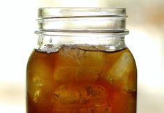 cold brew iced tea: 4 cups water + 1 tea bag in the fridge over night- really does yield great iced tea