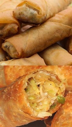 Homemade Chinese Food, Easy Chinese Recipes, Asian Recipes, Kaiser Roll Recipe, Appetizer Recipes, Dinner Recipes, Egg Roll Recipes, Side Dishes Easy, Family Meals