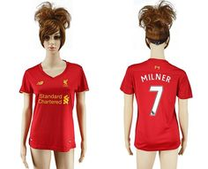 b20852138 Women s Liverpool  7 Milner Red Home Soccer Club Jersey The official jersey  of the store