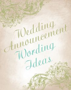 Wedding announcement wording ideas - Advice and Ideas   Invitations By Dawn