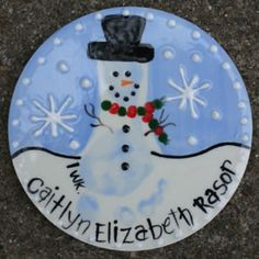 Pinned from Kid Prints Custom Hand-Painted Pottery this is a great idea