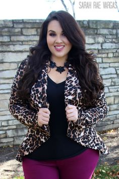The Leopard Lookbook | Plus Size Fashion | This outfit I love it but probably would never wear leopard print the shirt and jeans I would do!! All these outfits i love!!