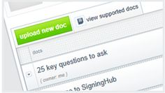 Learn basics of signinghub.com, uploading docs, adding signers and setting the signing order for collaborators.