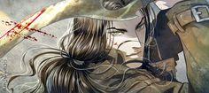 "Illustration of Kael, from ""Dàimones - Prima Lux"", our vampire comic series."