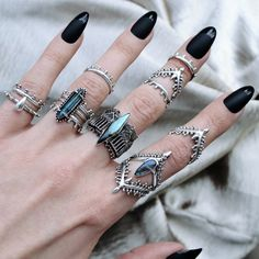 """☩♰☩ NEW IN! ☩♰☩ Cassiopeia """"The Vain Queen"""" ☩♰☩ shopdixi.com ☩♰☩ #jewelry #jewellery #bohojewels #magic #goth #grunge #magic #hippie #bohemian #sterlingsilver #labradorite #moonstone #rings"""