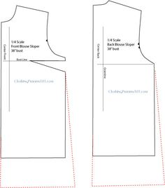 """drafting the basic tunic top - use your blouse block, make it about 4"""" longer and 1"""" wider at the hem.  Mark for side vent about 4"""" up from the hemline.  EASY!"""
