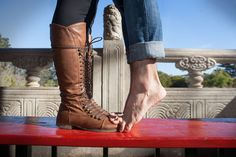 """Do this with him and have it say """"she keeps me on my toes!"""" and I'll be wearing my heels! Lol"""