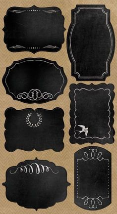 These styles would be great for labels or chalk board painting on our Heritage Hill or Montana Jars container. I will never be over chalkboard labels. Chalk It Up, Chalk Art, Diy And Crafts, Arts And Crafts, Paper Crafts, Printable Labels, Printables, Decoupage, Etiquette Vintage