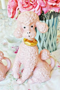 Poodle figurine - I used to collect these poodles