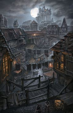 Night over the poor district by ortsmor on DeviantArt Night Over the Poor District by ortsmor