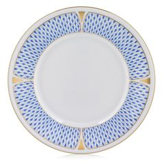 Known for such classic designs as Rothschild Bird and Queen Victoria, Herend boasts a wide selection of patterns with the same timelessness and elegance. Herend China, Marble Console Table, Sandwich Trays, Blue Dinner Plates, Blue Desserts, Walnut Burl, Blue Fruits, Scale Design, Glass Dishes