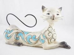 """Maya"" Lying Siamese Cat Figurine Jim Shore Heartwood Creek Resin 