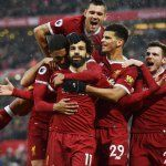 Mohamed Salah of Liverpool Celebratres his opener during the Premier League match between Liverpool and Everton at Anfield on December 10 2017 in. Liverpool Premier League, Liverpool Champions League, Liverpool Soccer, Arsenal Premier League, Wayne Rooney Everton, Merseyside Derby, Burnley Fc, Fulham Fc