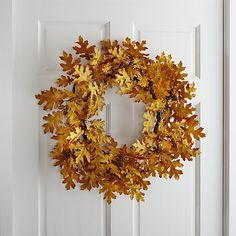 Crate and Barrel Oak Leaf Wreath | In My Own Style