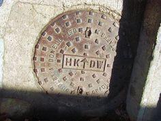 Old Hong Kong british made manhole