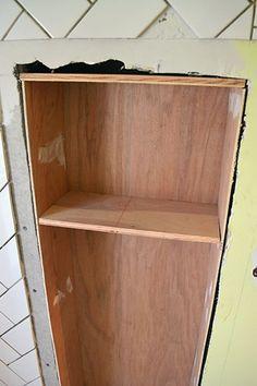 Built-in Shelf Between Studs