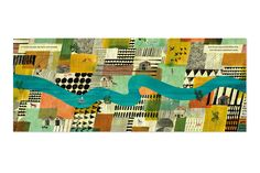 I love how Marc Martin works pattern into his book illustration
