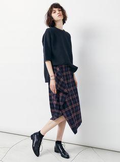 チェックスリットスカート|STUNNING LURE|STUNNING LURE online shop